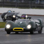 Bryant's Lotus 15 and Pearsons' Jaguar D-type score
