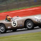 Ward weathers tribulations to win in Fangio's Jaguar